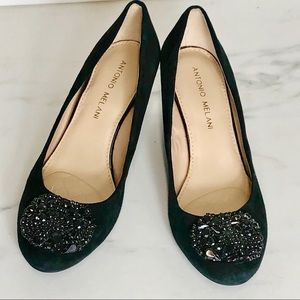 Antonio Melani Sequin Embellished Wedges Size 6.5